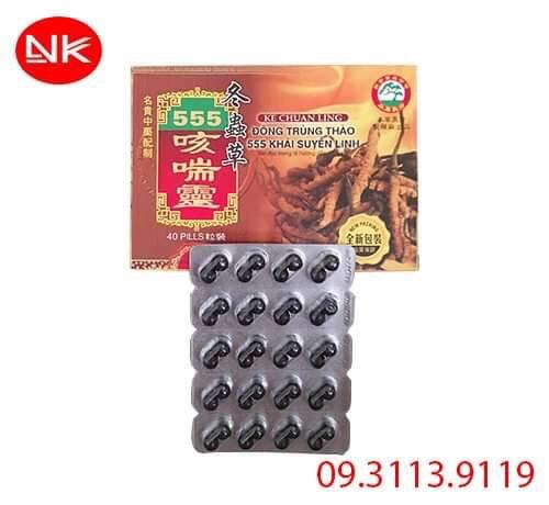 Đông Trùng Thảo 555 Khái Suyên Linh điều trị ho