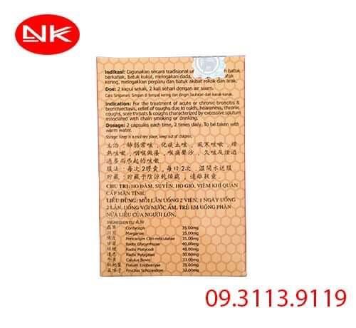 Hoa chén – Hua Dan Qing Fei Zhi Ke Tan điều trị ho