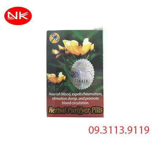 Herbal purifyer pills - thanh huyết chỉ dưỡng hoànđiều trị ngứa