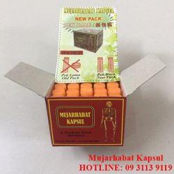Thành phần của thuốc mujarhabat kapsul Malaysia.